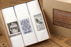 Italian SALE Tamielle Men/'s Set of 3 Cotton Hankies