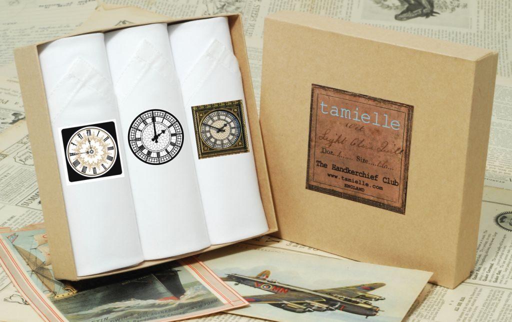 HOC clocks set set of III Hankies