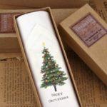 Mens Single Christmas Tree hankie
